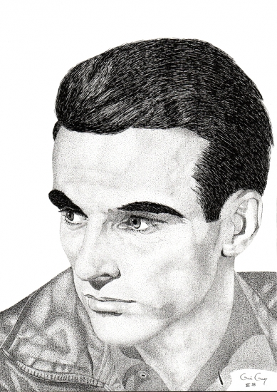 Montgomery Clift par GUEGAN